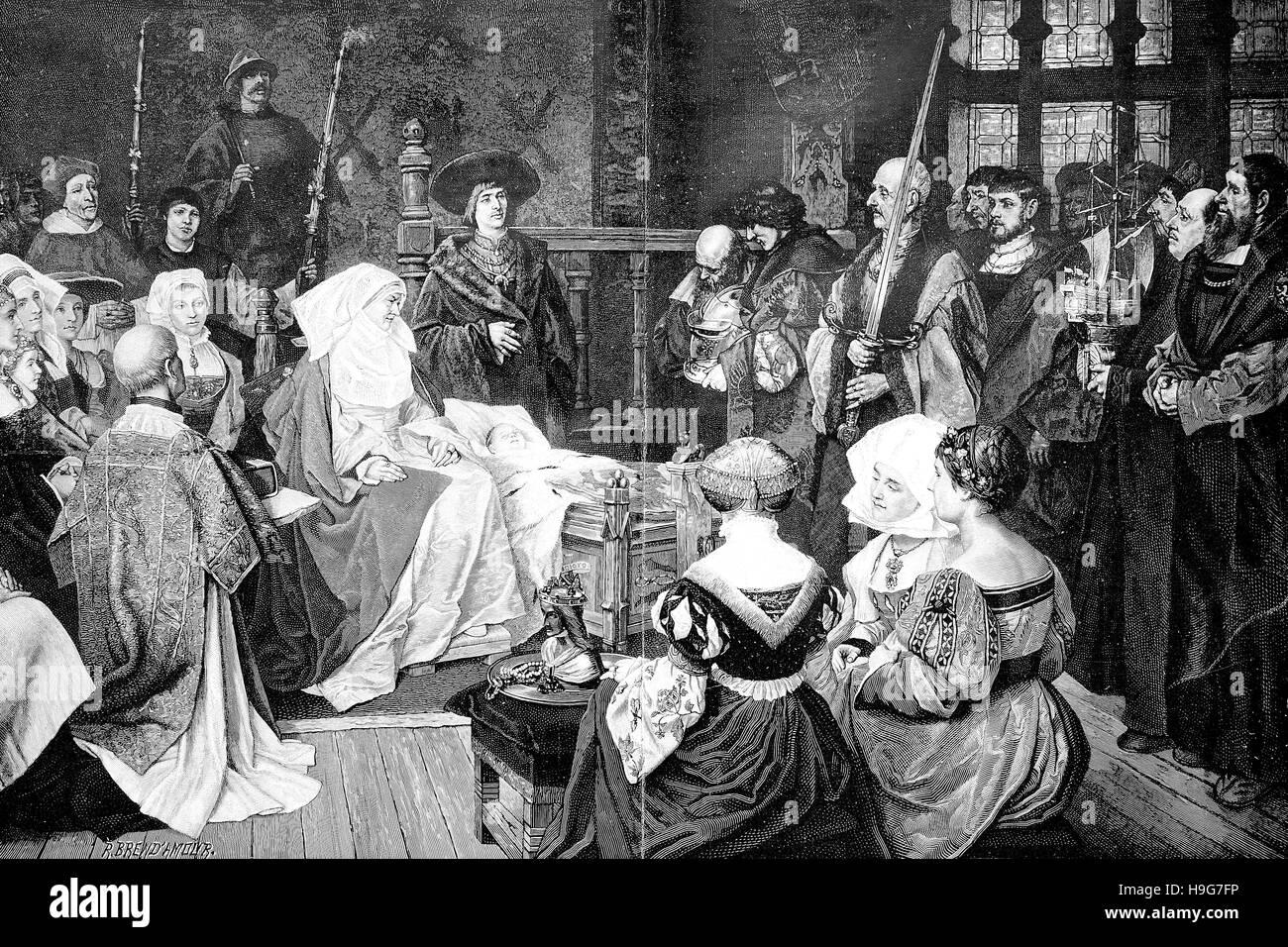 homage to Charles V, Karl, 24 February 1500 - 21 September 1558, at Gent - Stock Image