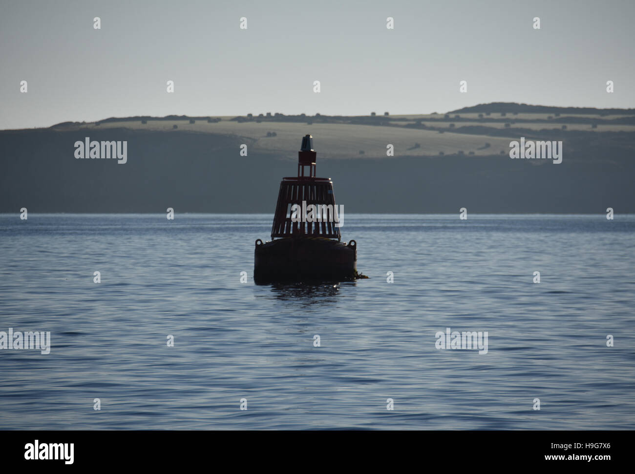 Chapel buoy Port navigation can at the entrance to Milford Haven - Stock Image
