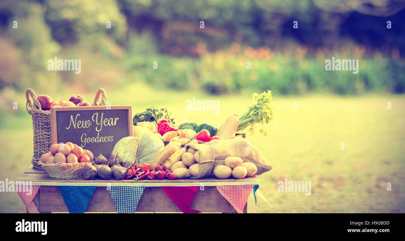 Composite image of new year goodness - Stock Image