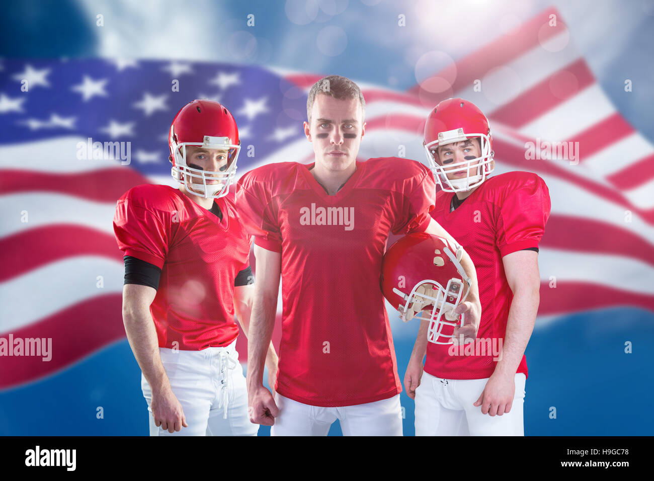 Composite image of american football team - Stock Image
