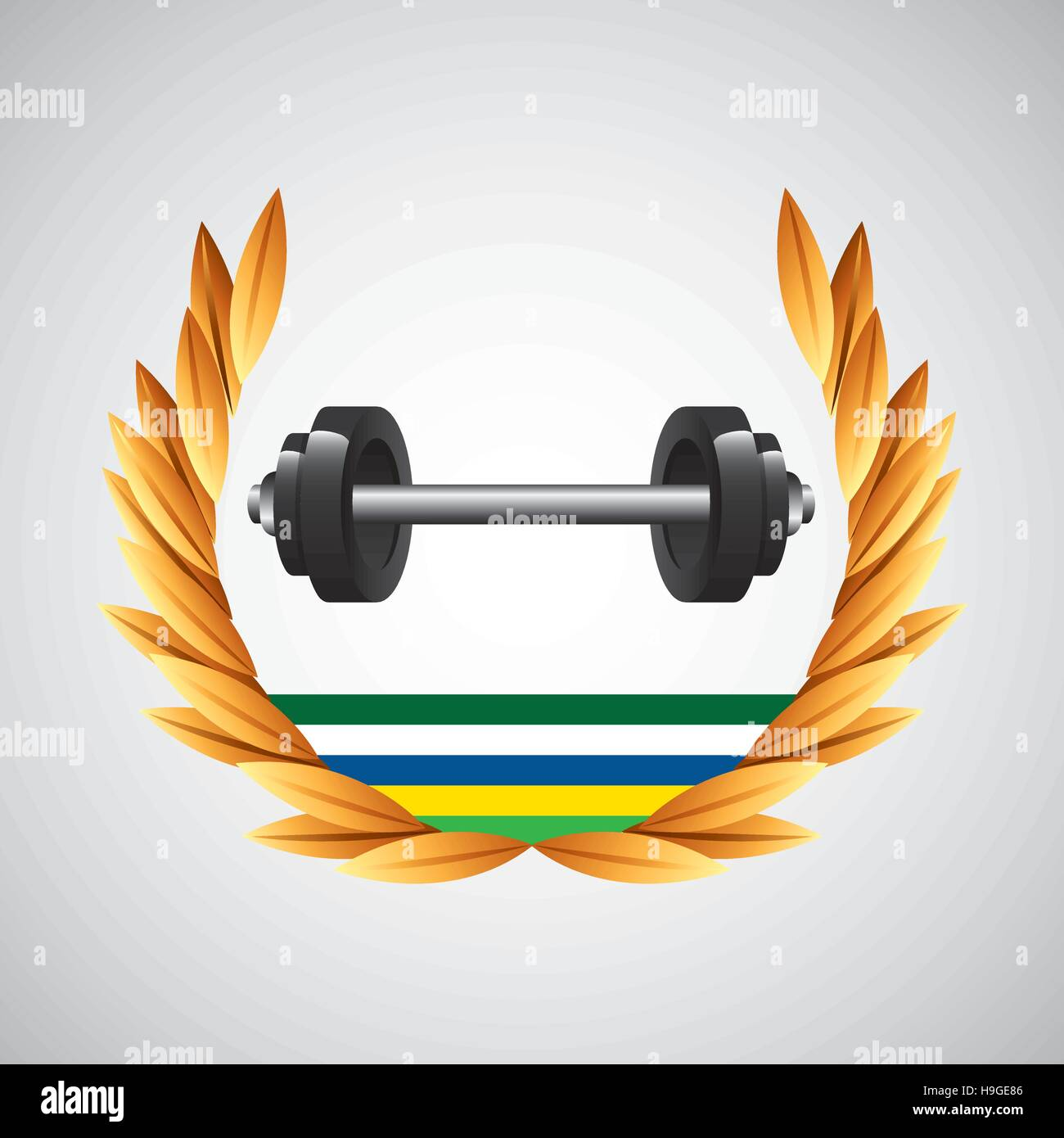 barbell weight olympic games emblem vector illustration eps 10 - Stock Vector