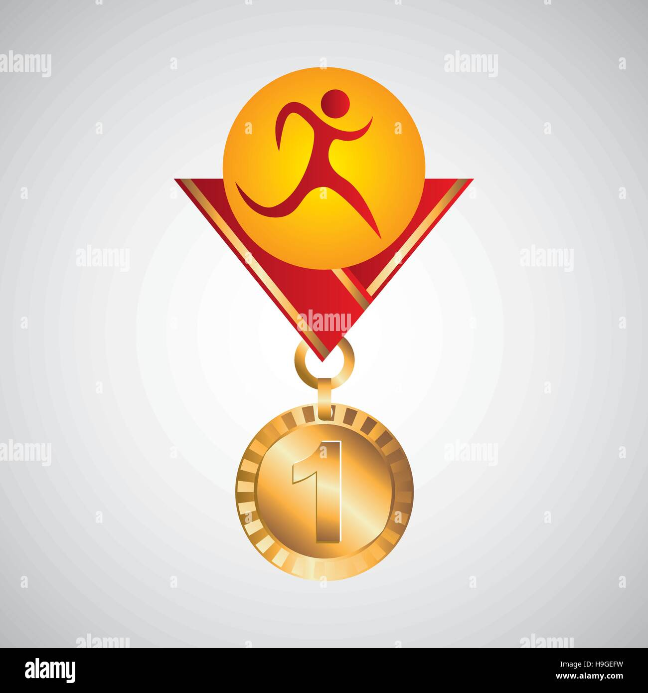 olympic gold medal athletics icon vector illustration eps 10 - Stock Vector