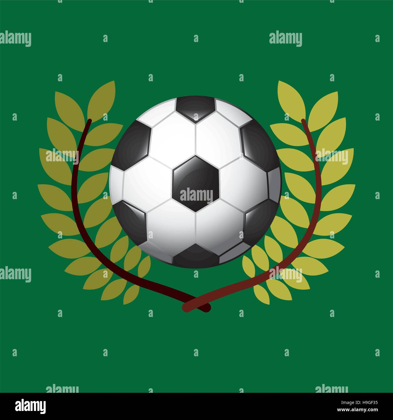 football olympic games emblem vector illustration eps 10 - Stock Vector