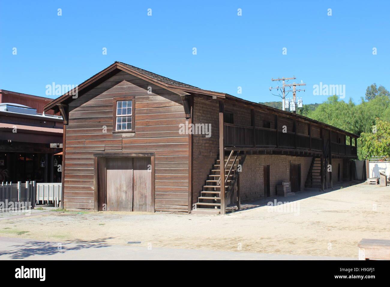 Casa Grande Servants Quarters, Sonoma State Historic Park, California - Stock Image