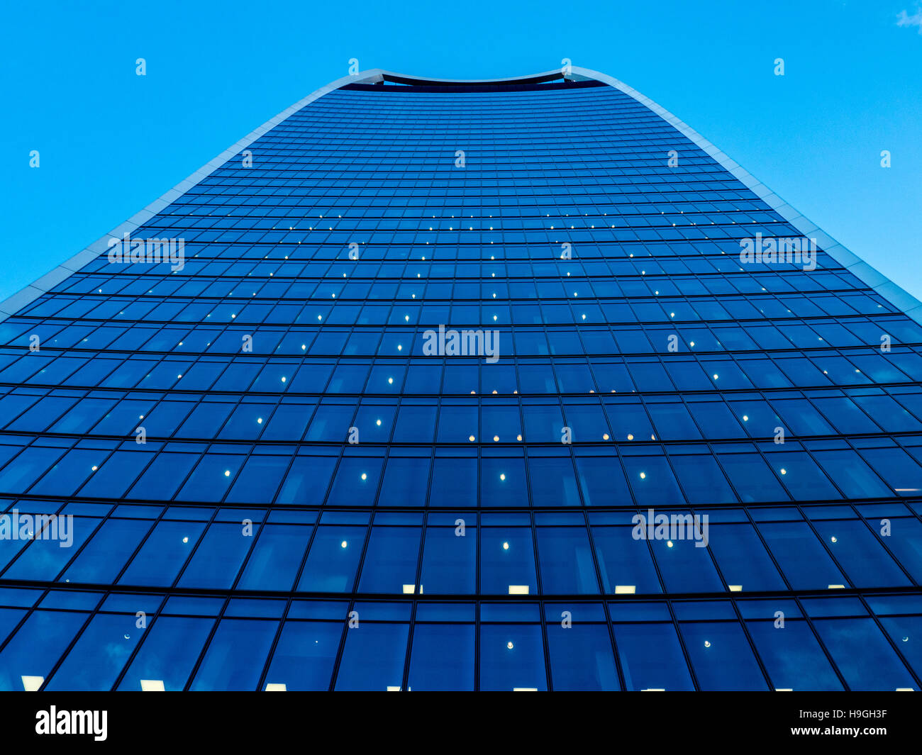 Exterior of 20 Fenchurch Street, known as the Walkie Talkie building, London, UK. - Stock Image