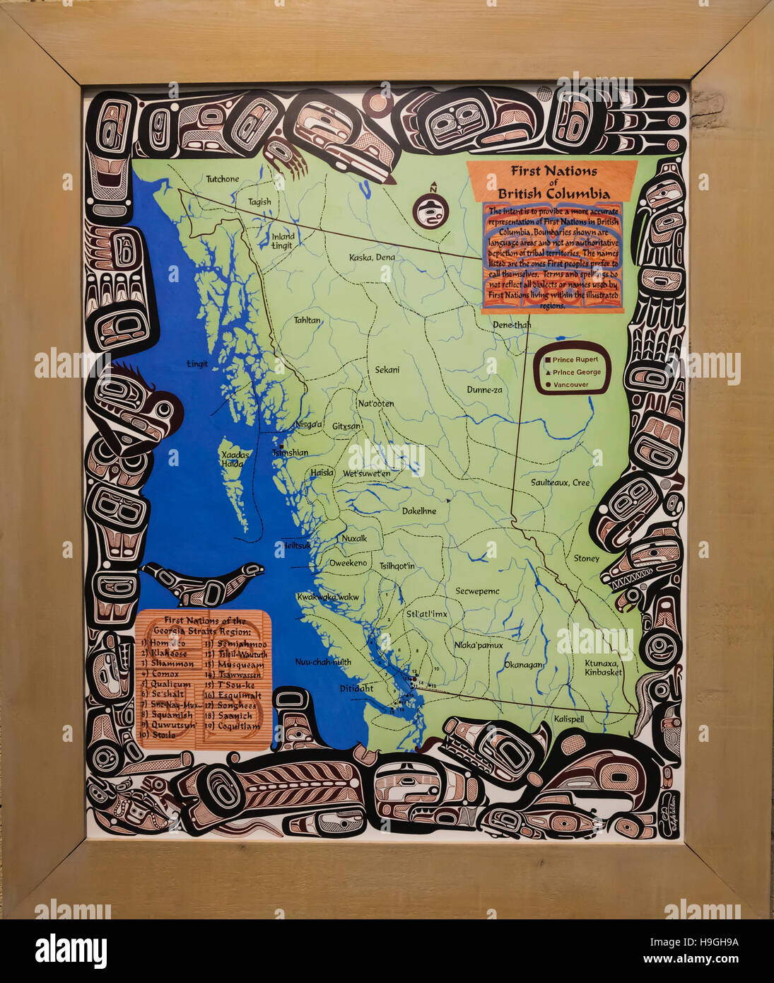 Map of First Nations territory in the Province of British Columbia