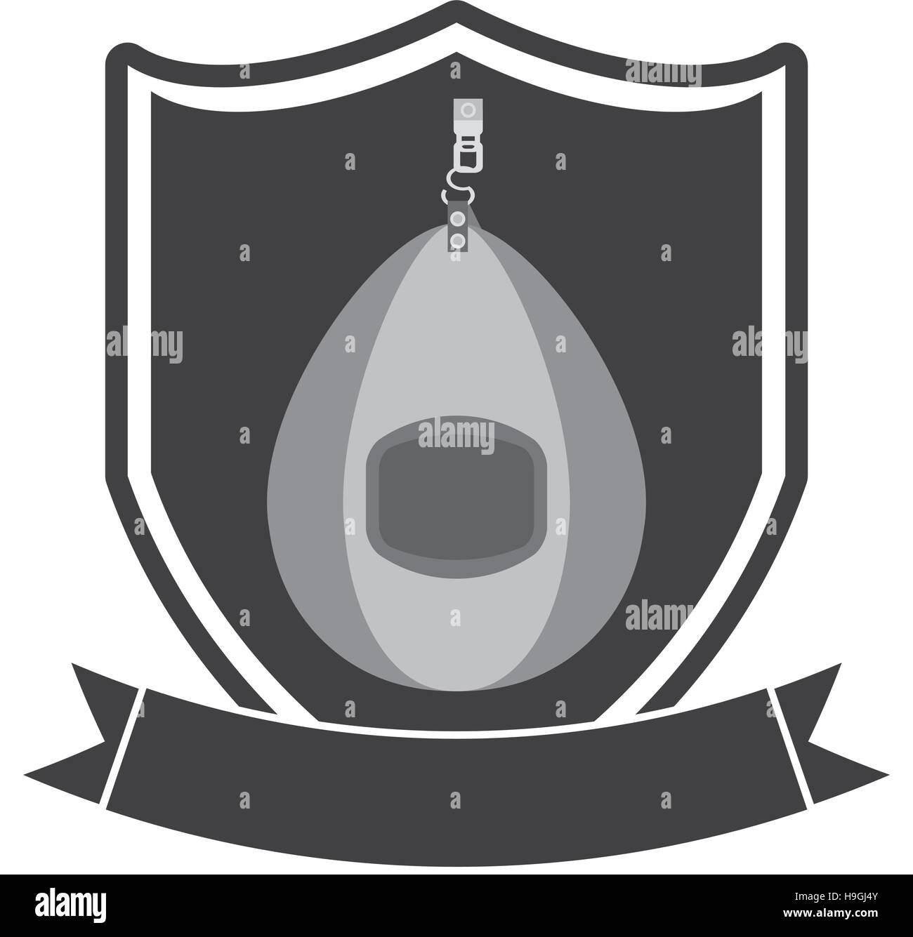 punching bag isolated icon - Stock Vector