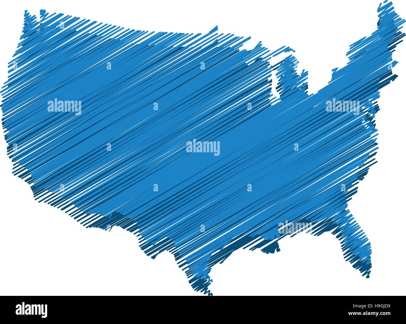 united states of america map Stock Vector
