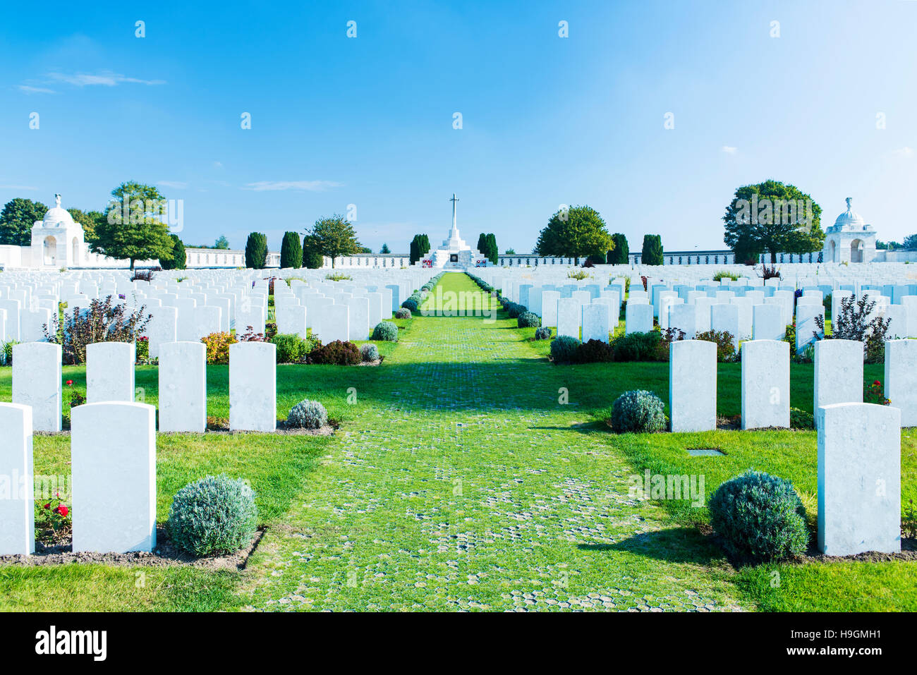 Tyne Cot Commonwealth War Graves Cemetery and Memorial near Zonnebeke in Belgium - Stock Image