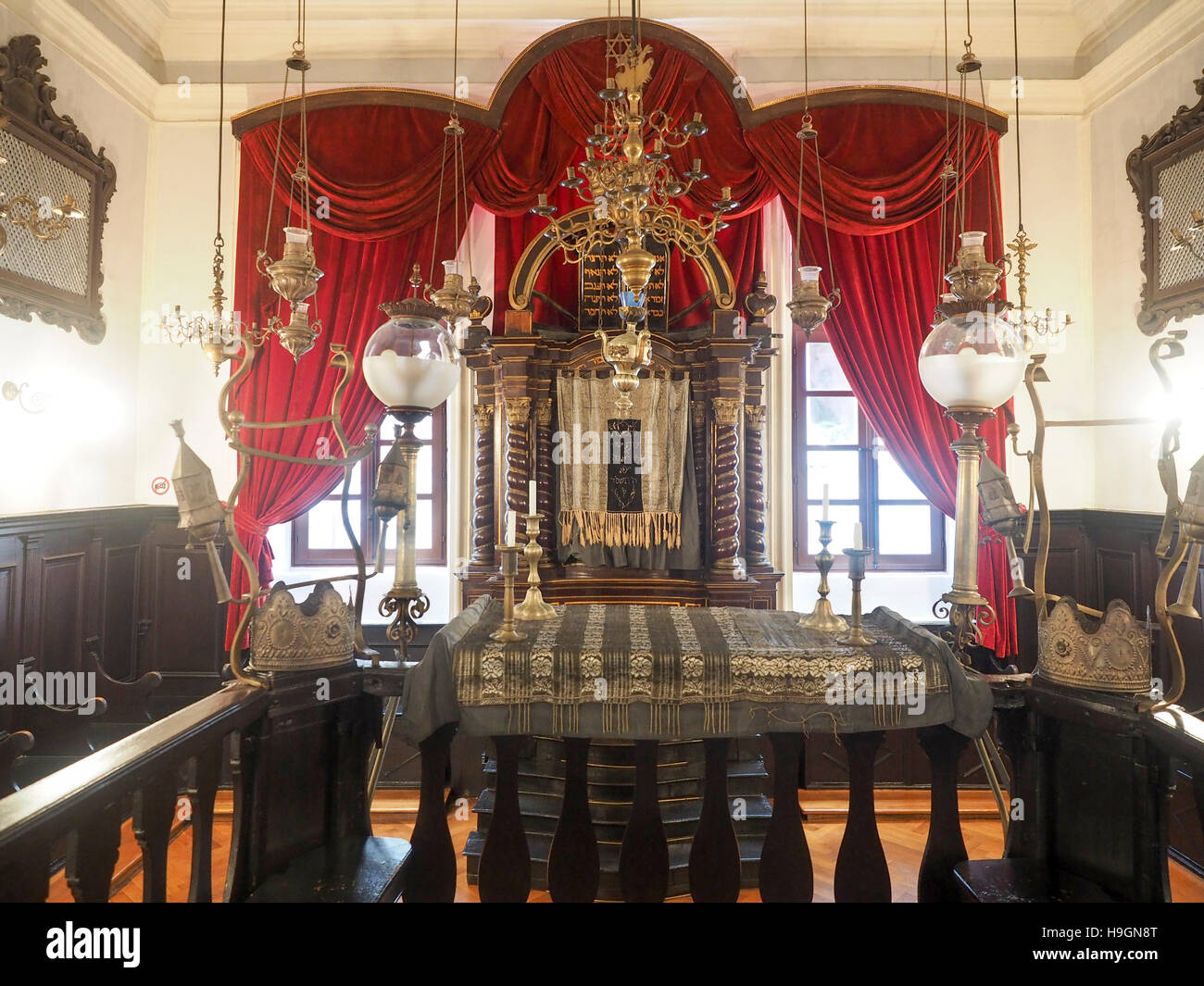 croatia dubrovnik interior of the synagogue in the walled old city