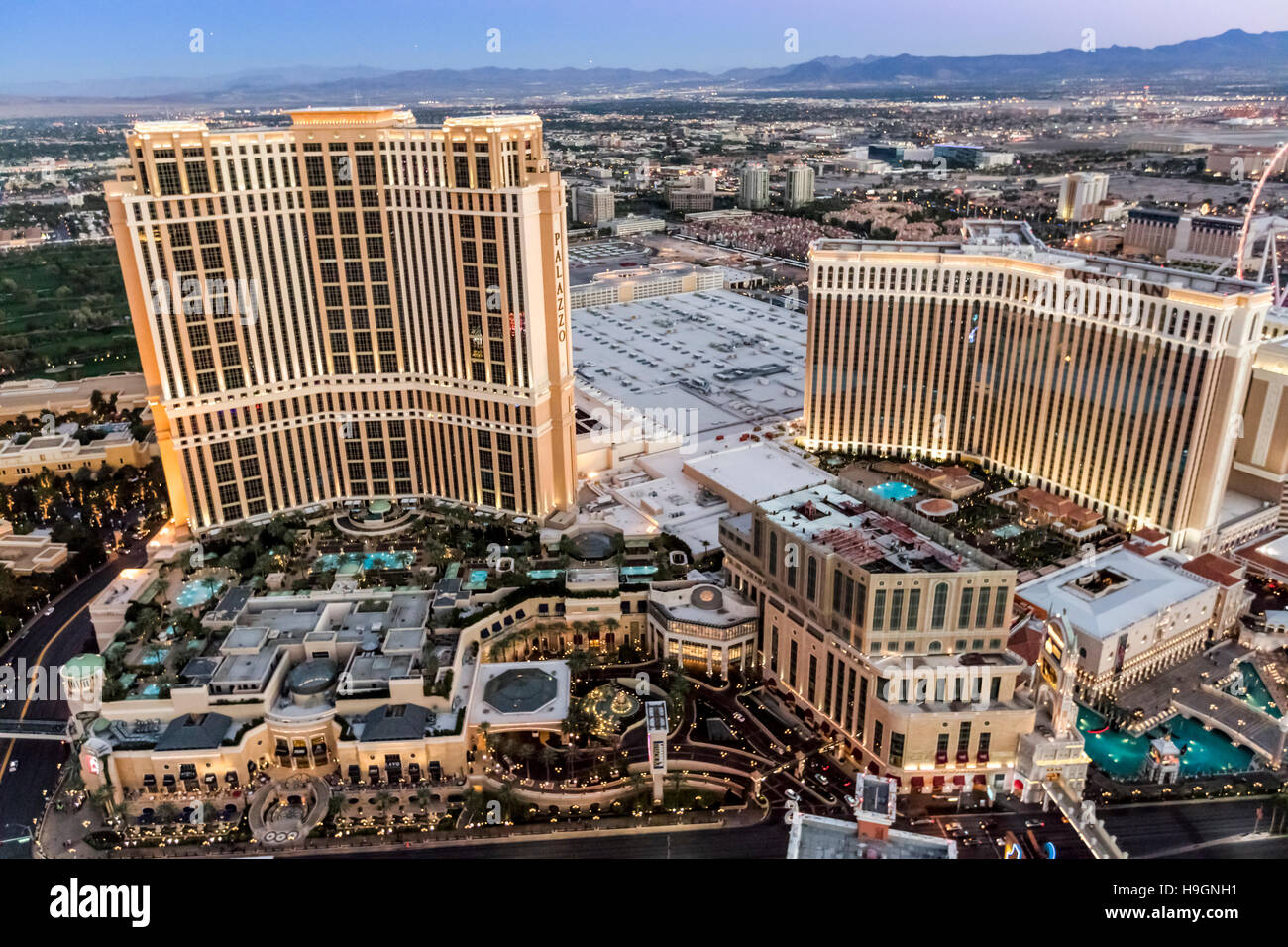 Hotel locations las vegas strip and too