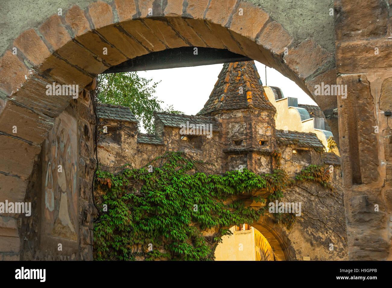 Kientzheim, next to Kaysersberg,  scenic village, route of vine Alsatian, Alsace, France - Stock Image
