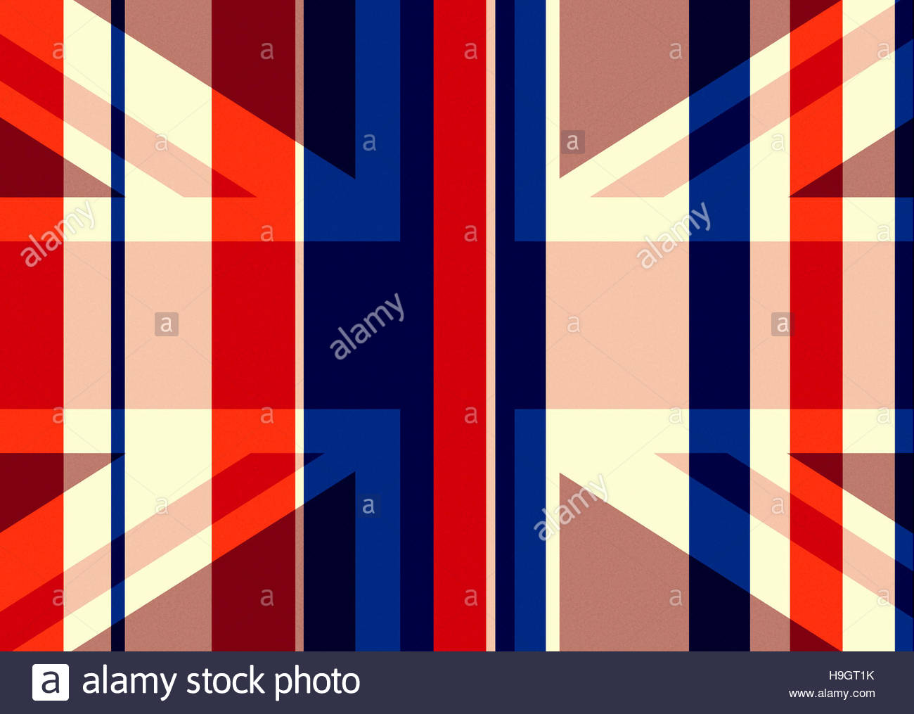 Union Jack - homage to the flag - retro classic illustration - Stock Image