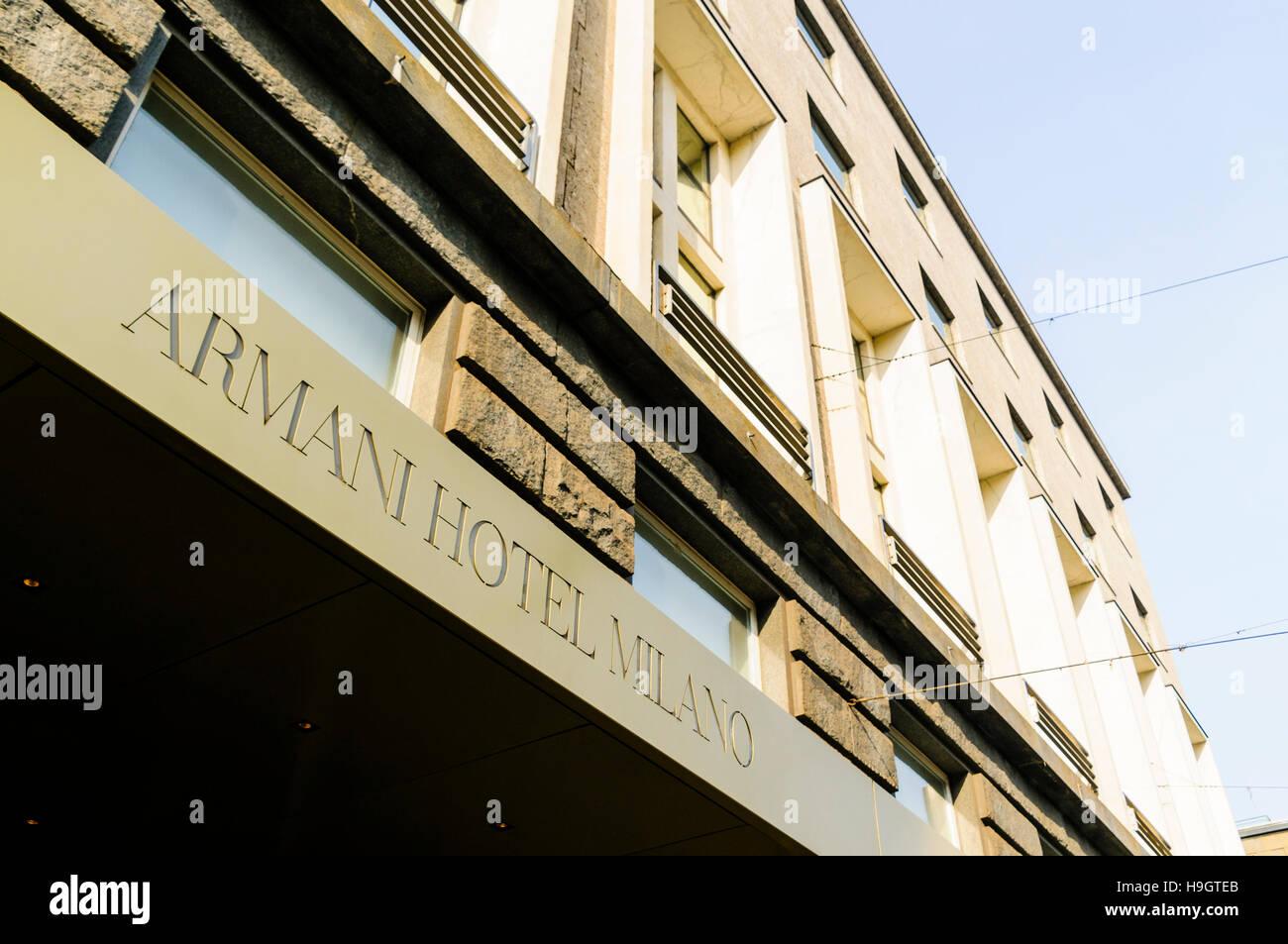 Armani Hotel Milano, Milan, Italy - Stock Image