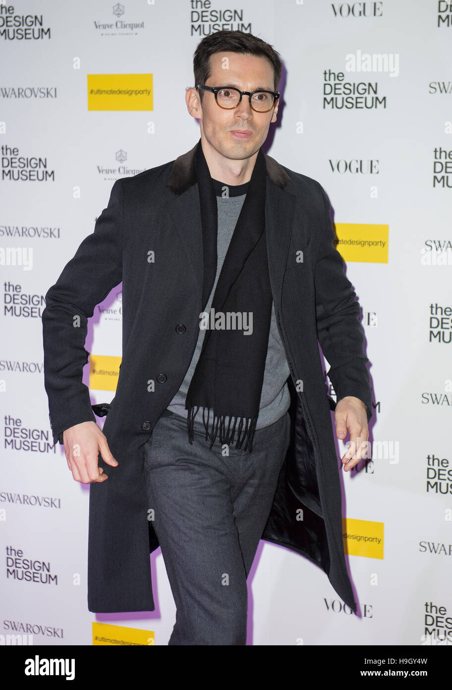 London, UK. 22nd Nov, 2016. Erdem Moralioglu attends The Design Museum VIP launch on November 22, 2016 in London, - Stock Image