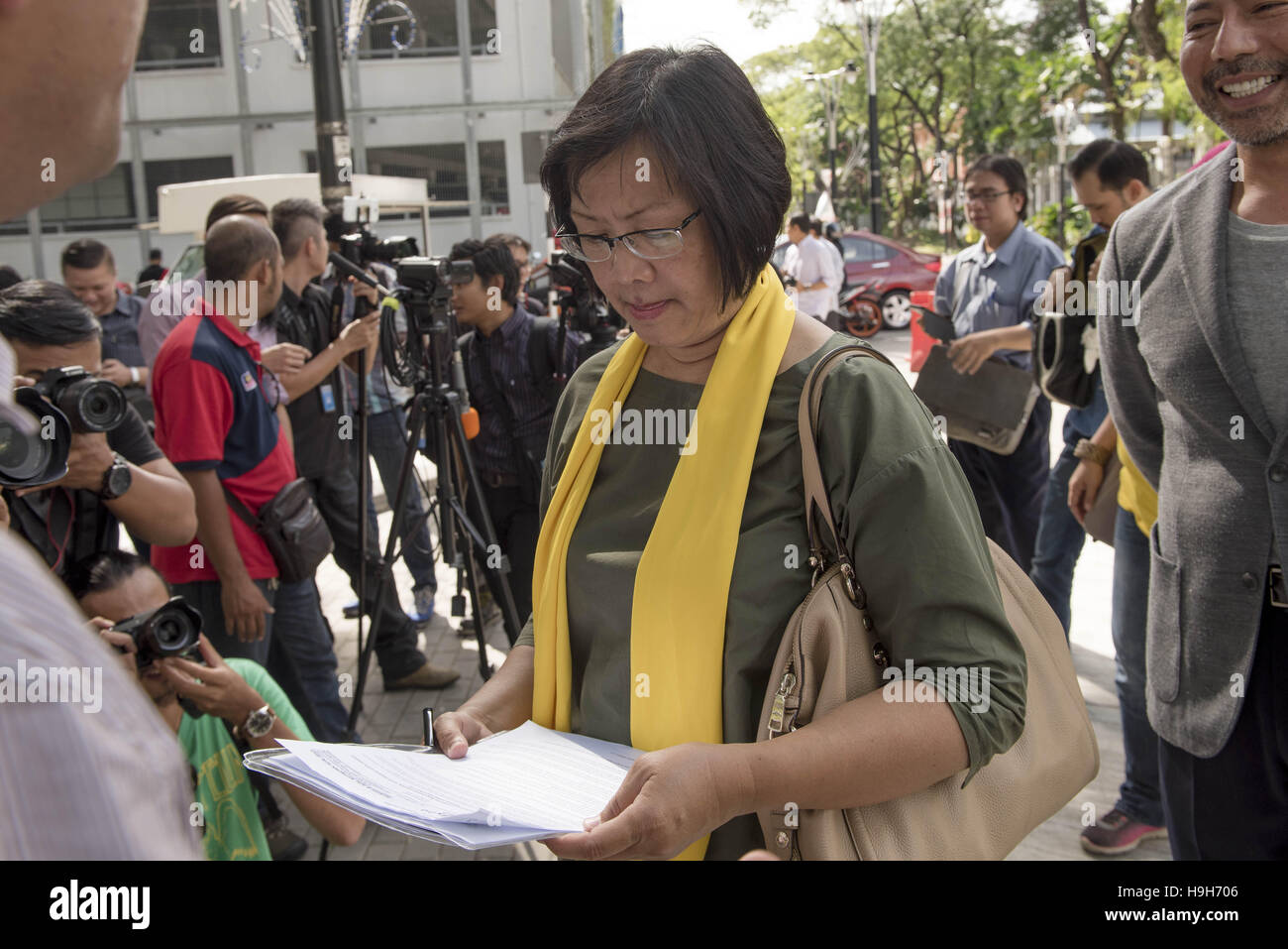 October 20, 2016 - Maria Chin Abdullah(60), chairperson of the coalition of Malaysian NGOs and activist groups known - Stock Image