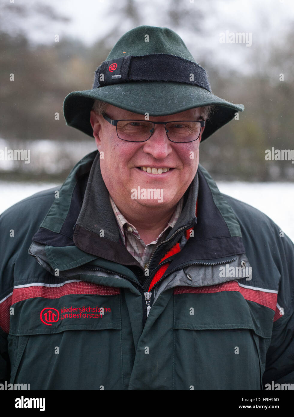 Goehrde, Germany. 15th Nov, 2016. Head of the forestry comission office Uwe Barge pictured near Goehrde, Germany, - Stock Image