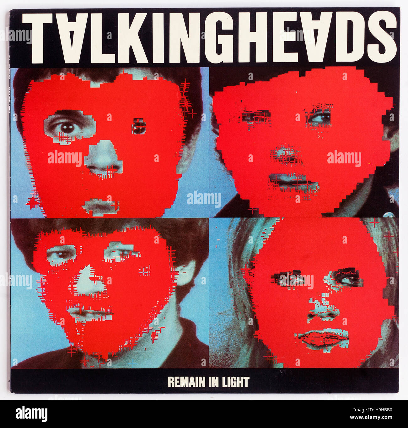 Cover of 'Remain In Light', 1980 album by Talking Heads on Sire - Stock Image