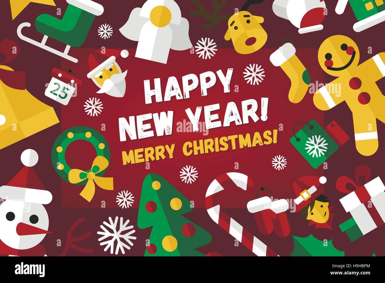 Happy New Year Flat Design 23