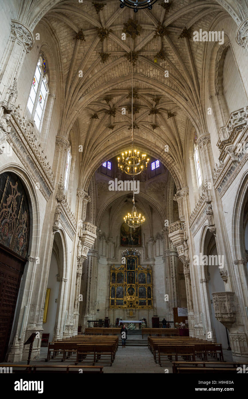 Interior of church of Monasterio de San Juan de los Reyes. Toledo, Spain. - Stock Image