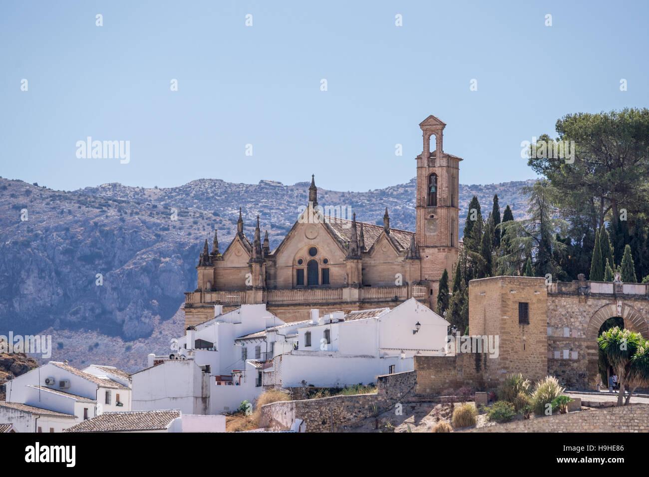 Real Colegiata de Santa María la Mayor in Antequera, province of Malaga, Andalucia, Spain Stock Photo