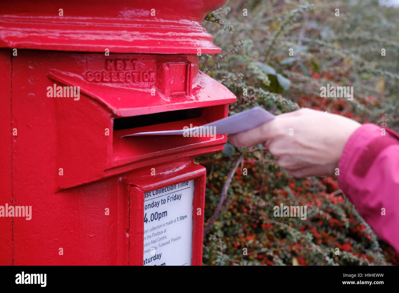 Posting a letter Stock Photo