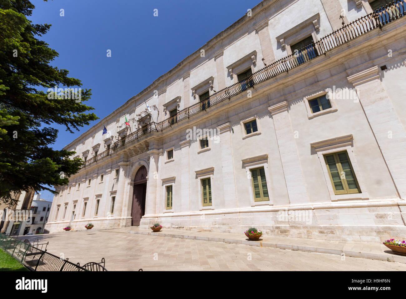 Italy, Apulia, Martina Franca, Ducal Palace - Stock Image