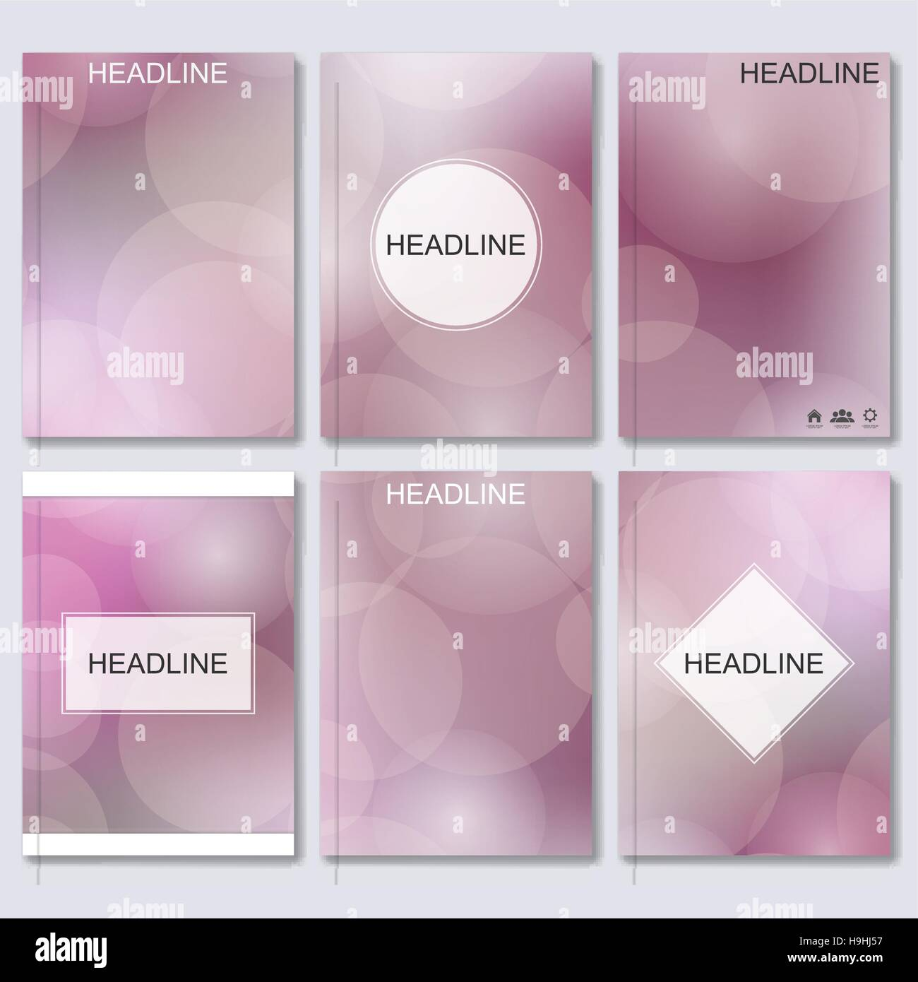 Modern vector templates for brochure, flyer, cover magazine or report in A4 size, Abstract blurred background. - Stock Vector