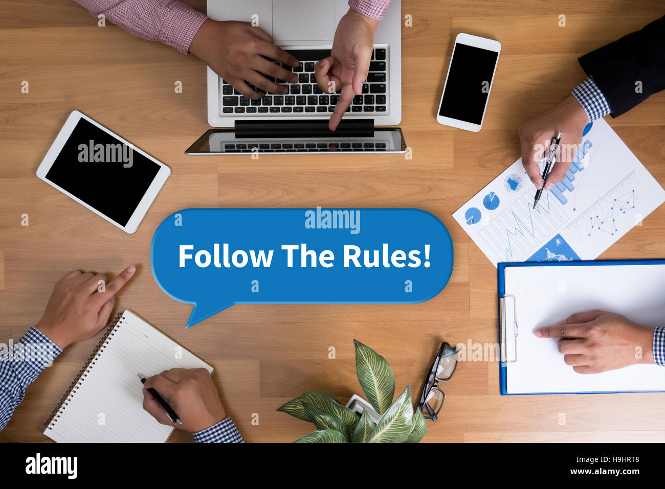 Follow The Rules! - Stock Image