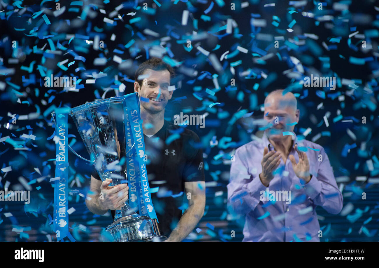 Barclays ATP World Tour Finals 2016 Singles presentation party, Andy Murray World Number One, The O2, London. © - Stock Image
