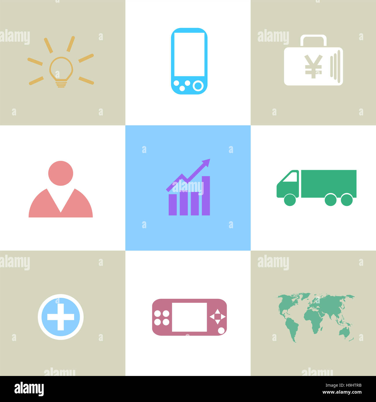 Thin line icons of global education form, online webinar, video tutorial, certificate of specialist, know how ideas - Stock Image