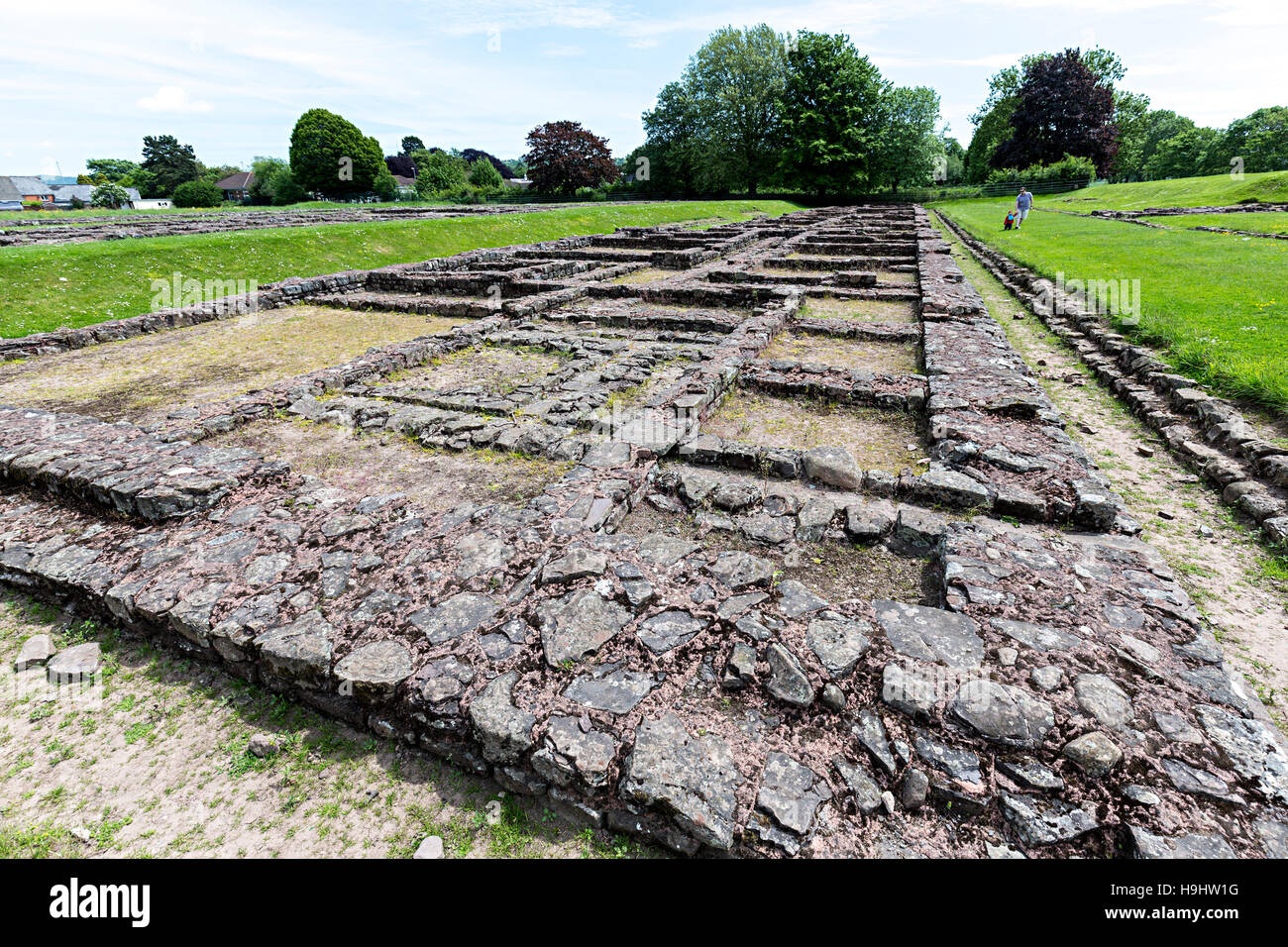 Roman barracks, Caerleon, Wales, UK - Stock Image