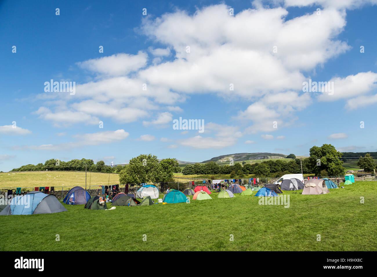 Campsite, Yorkshire, UK - Stock Image