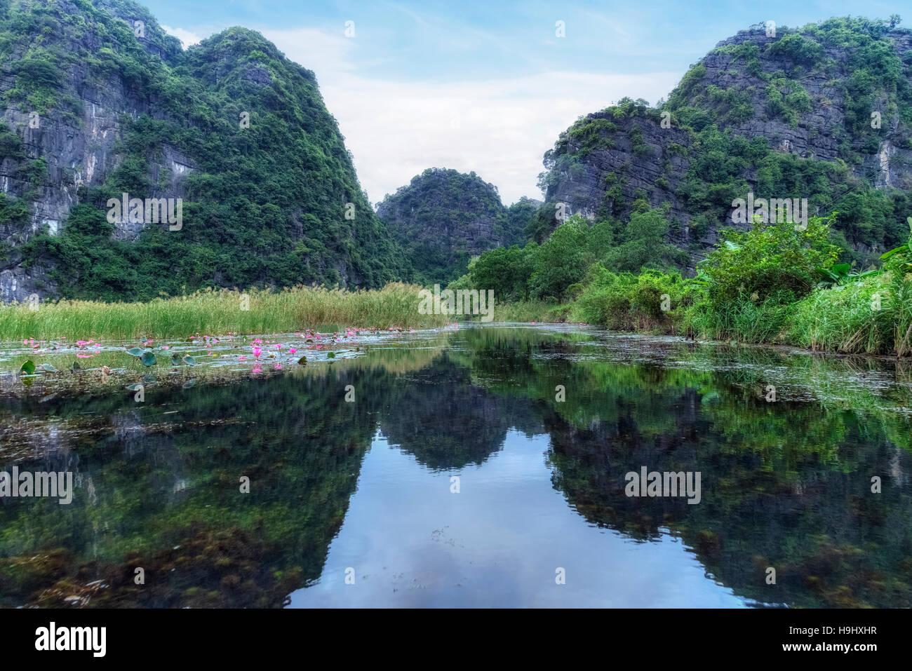 Tam Coc, Ninh Binh, Vietnam, Asia - Stock Image
