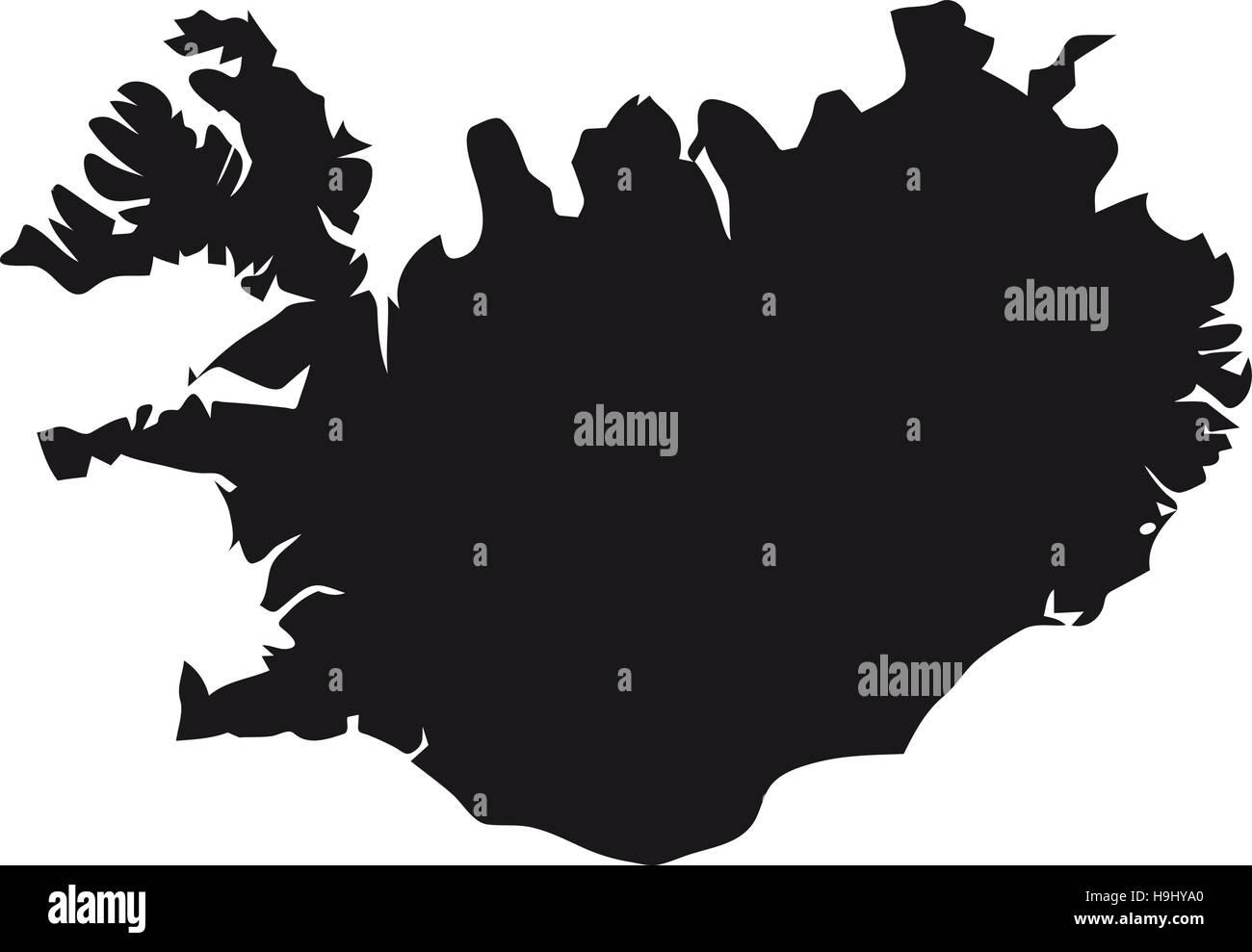 Iceland map Stock Vector Art & Illustration, Vector Image ...