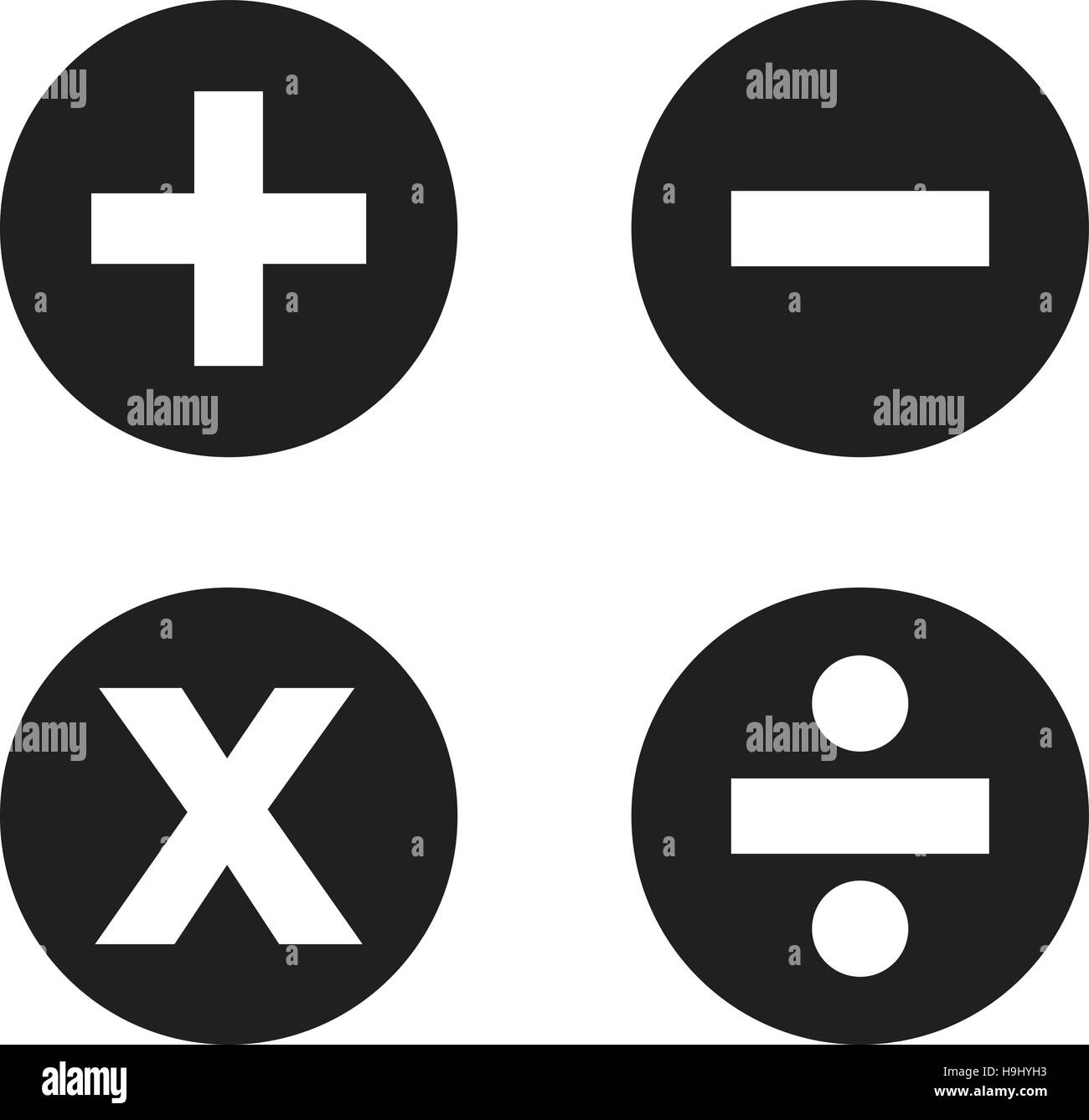 Math Symbols Cut Out Stock Images Pictures Alamy