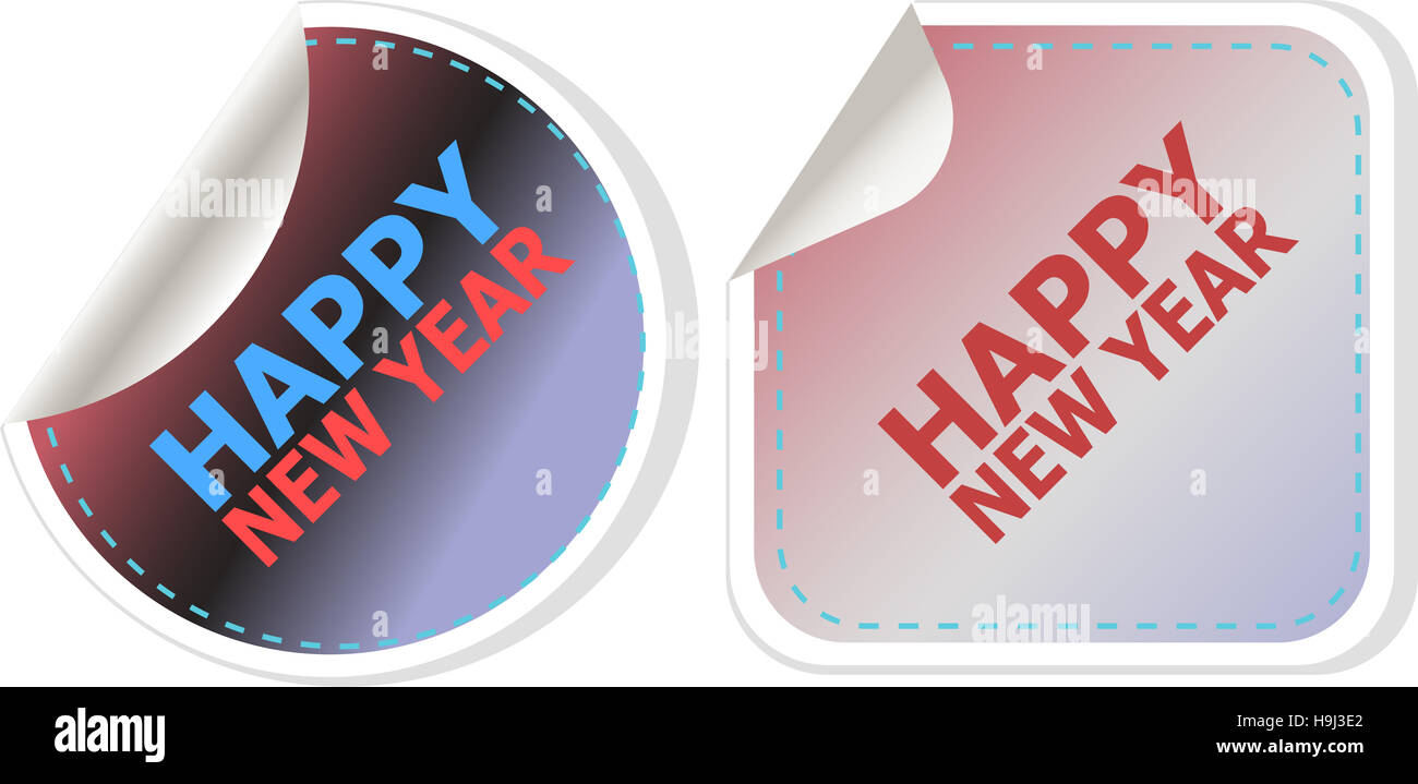 happy new year card design creative concept background for web and mobile applications template design business infographic