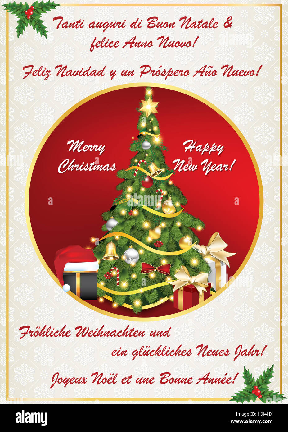 new year greeting card 2017 in many languages text translation merry christmas and happy new year in frenchgermandutch