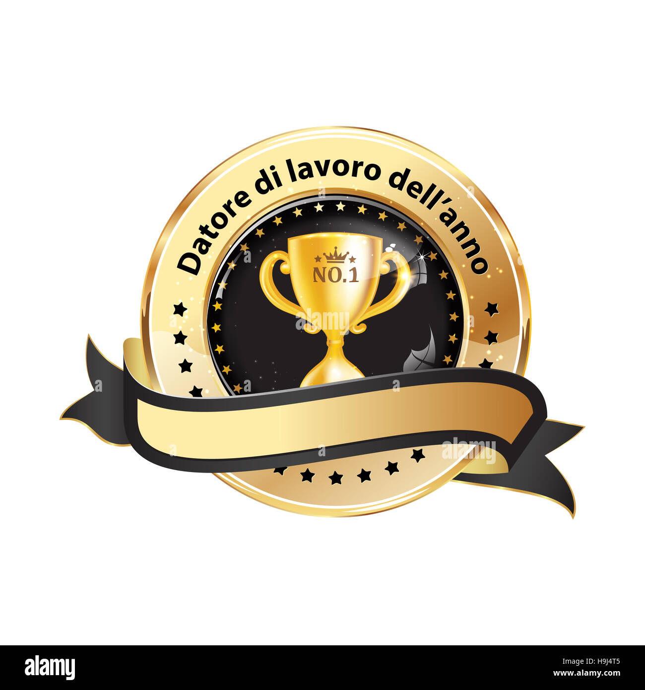 Datore di lavoro dell'anno - affari icona / Premio nastro distinzione per le aziende. - Stock Image