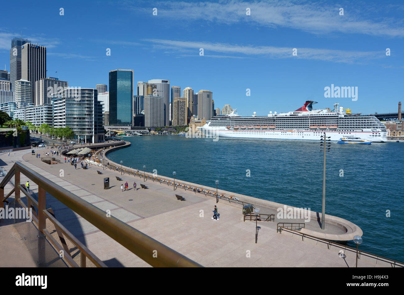 SYDNEY - OCT 19 2016:Visitors at Sydney Cove a major tourist attraction in Sydney Business District New South Wales, - Stock Image