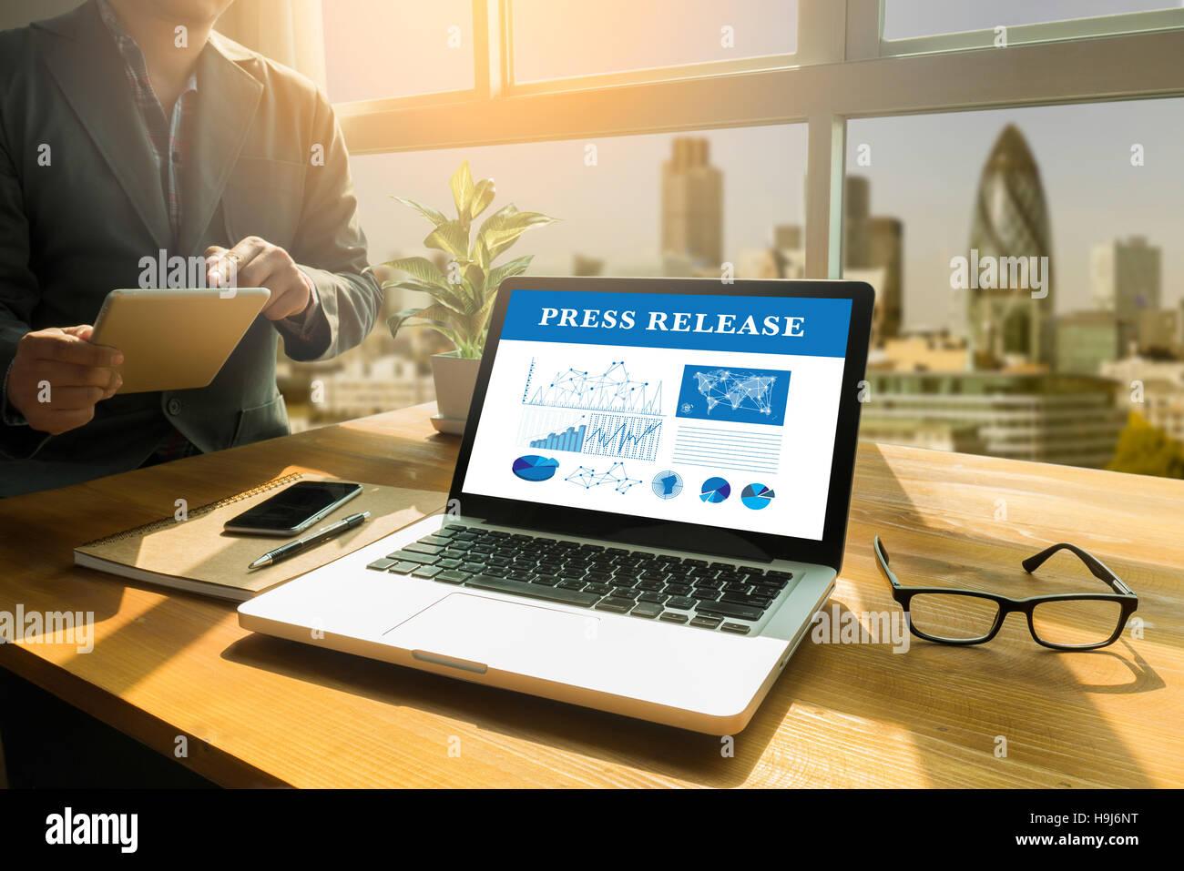 Press Release  concept Stock Photo