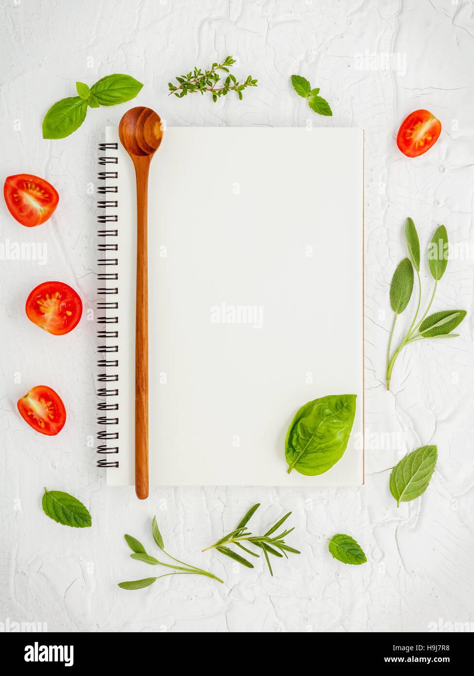 foods background and food menu design . various herbs ingredient
