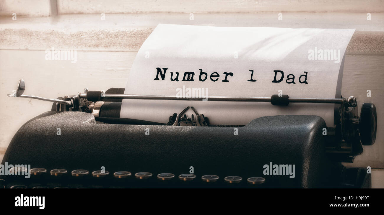 Composite image of number 1 dad message - Stock Image