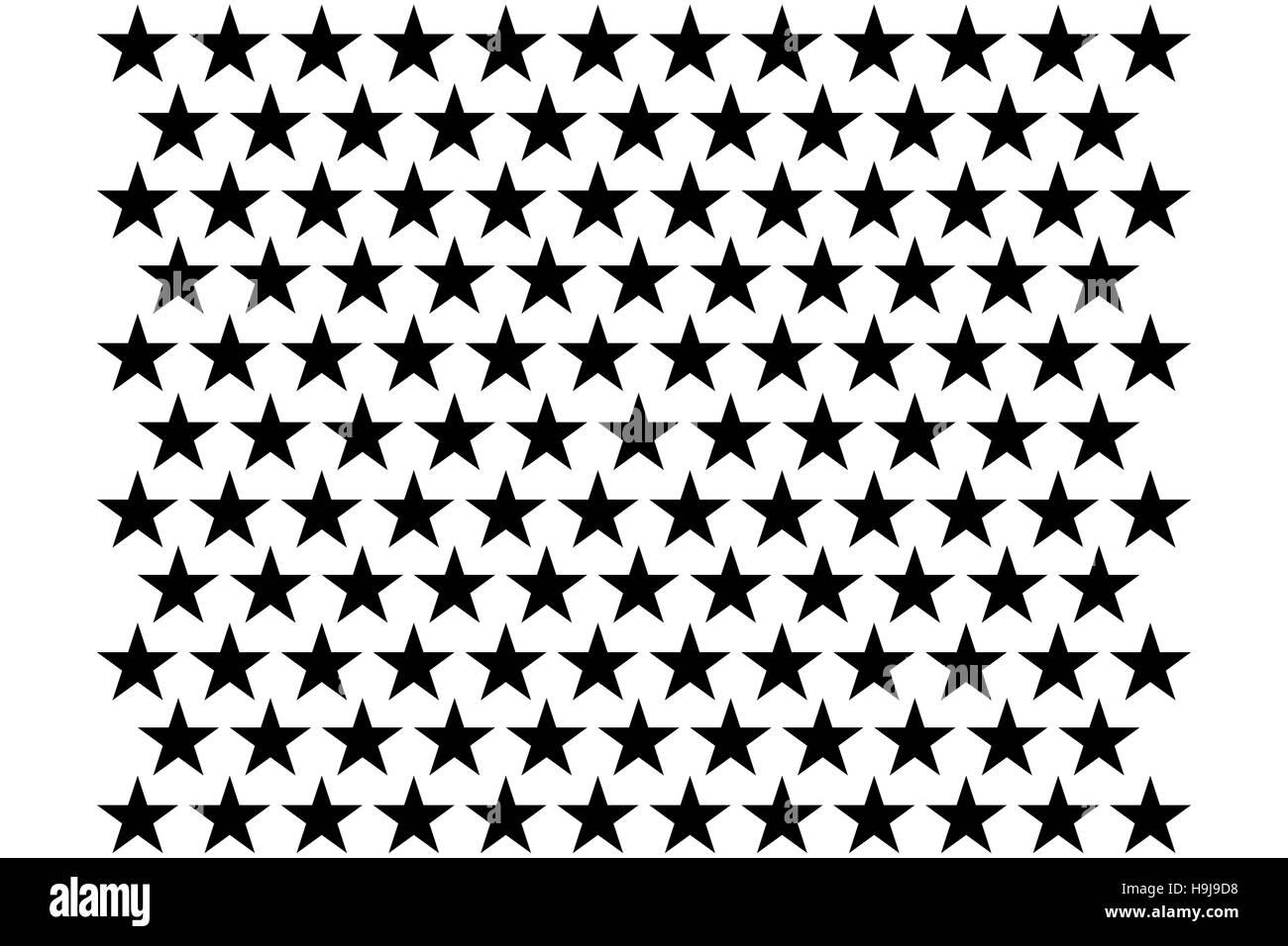 Digitally generated stars - Stock Image