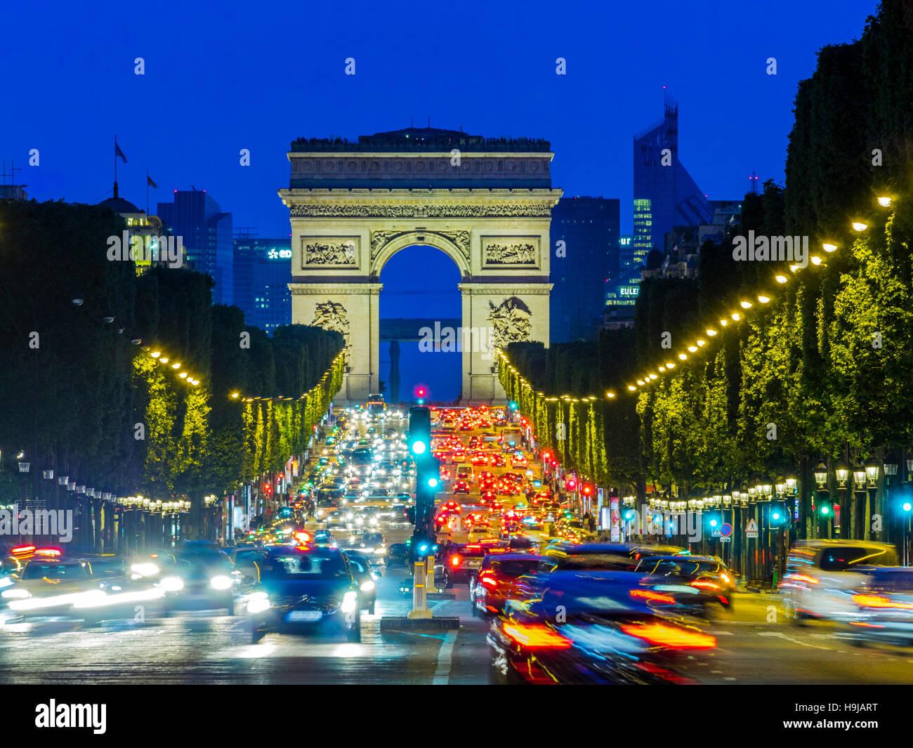 Champs-Élysées in Paris, France - Stock Image