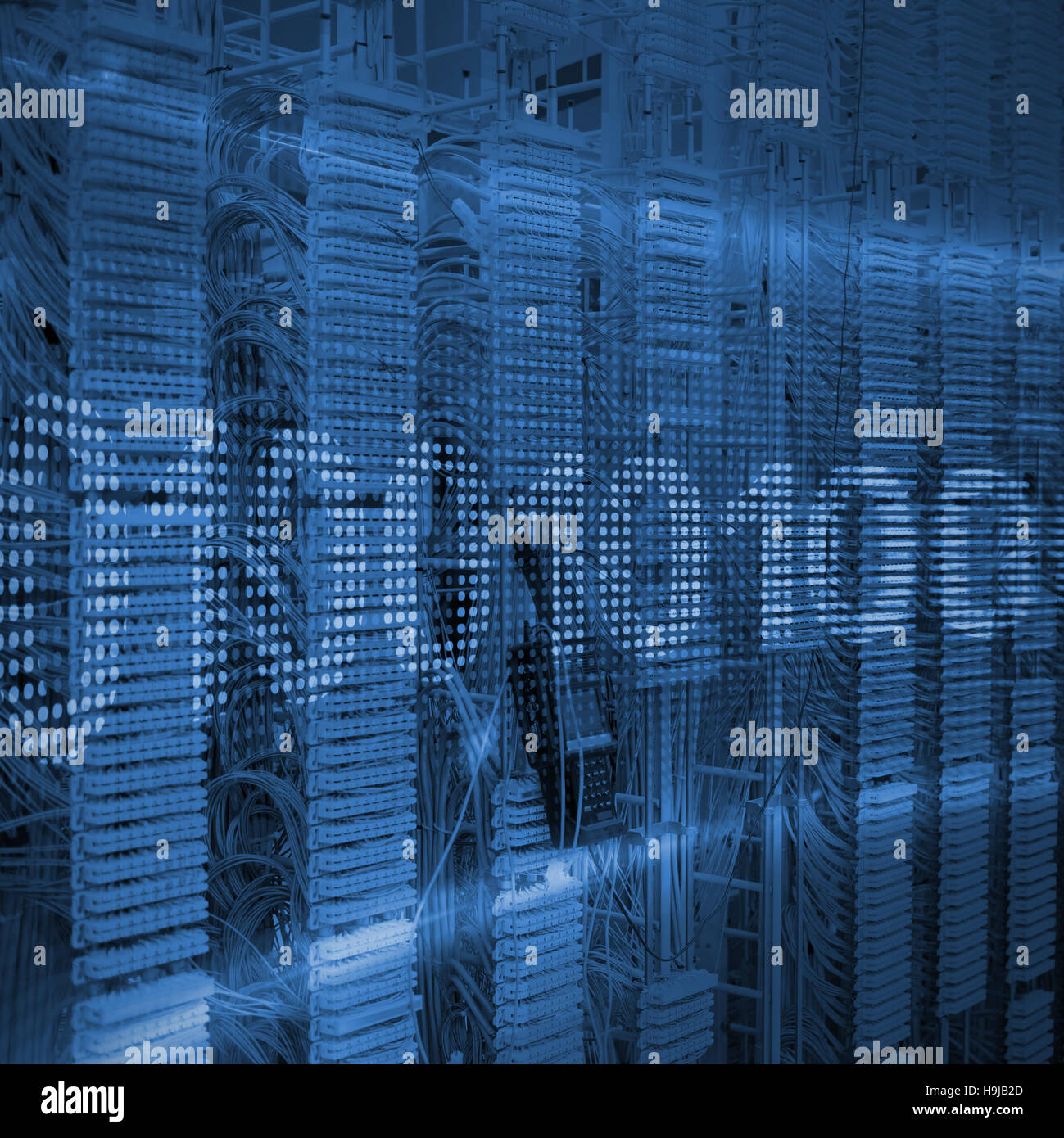 Composite image of binary code on digital screen - Stock Image