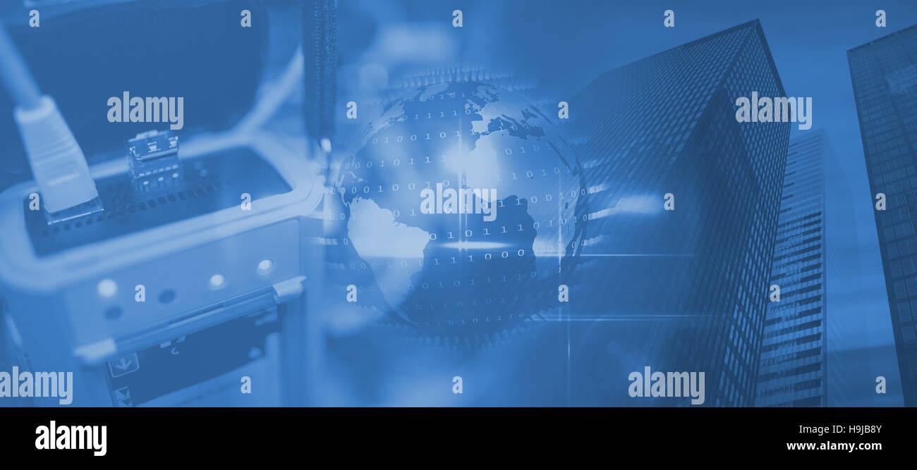 Composite image of view of data technology - Stock Image