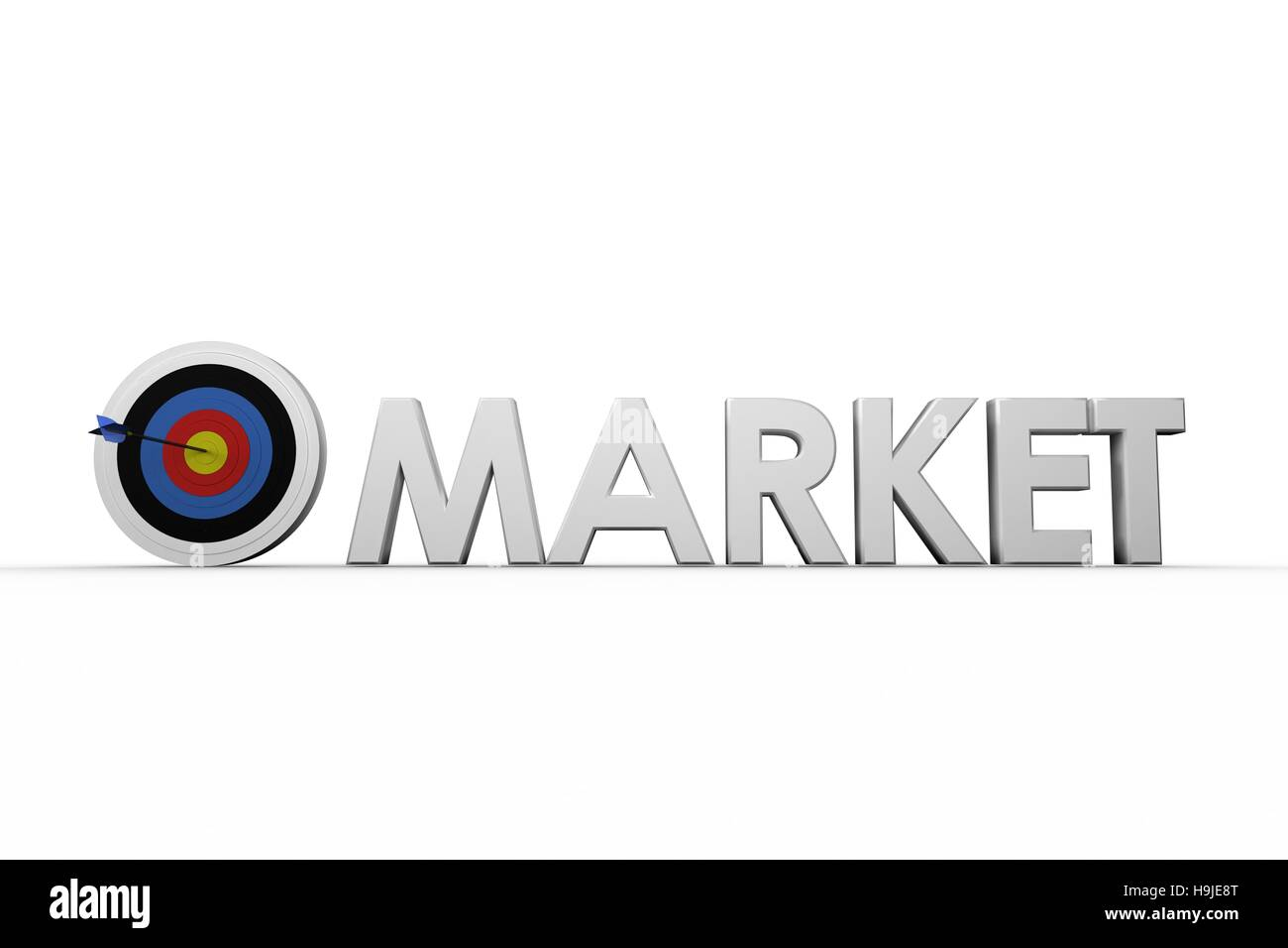Illustrative image of the word market - Stock Image