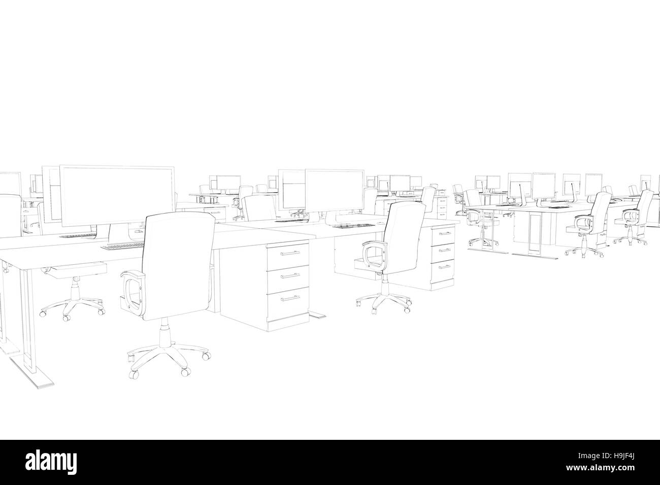 Draw of an open space - Stock Image
