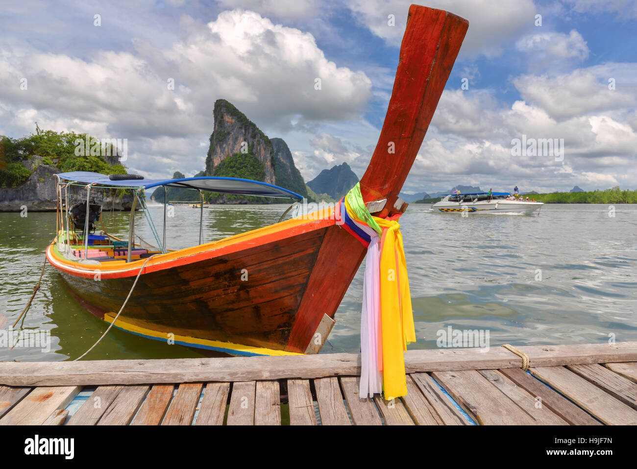 Traditional thai boat Stock Photo